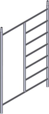 ZARGES Rollgerüst Aufsteckrahmen mit Durchstieg 2,00 x 1,35 m
