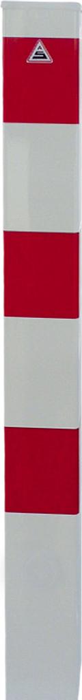 Schake Absperrpfosten 100 x 100 mm weiß | rot