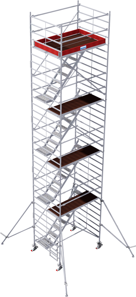 Fahrgerüst Krause Treppengerüst Stabilo Serie 5500 - 1,50x2,00m - AH 10,50m