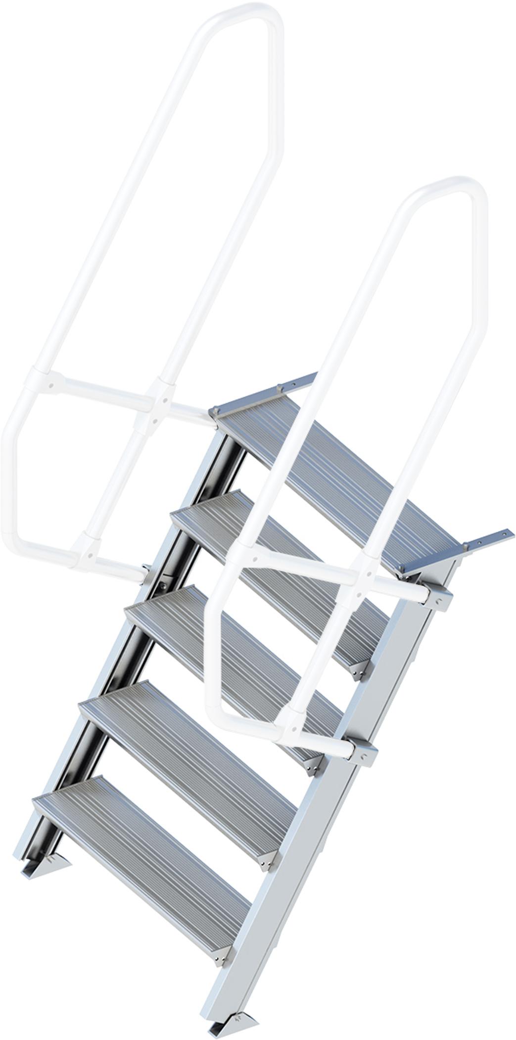 Layher Treppe 60° 5 Stufen - 800 mm breit