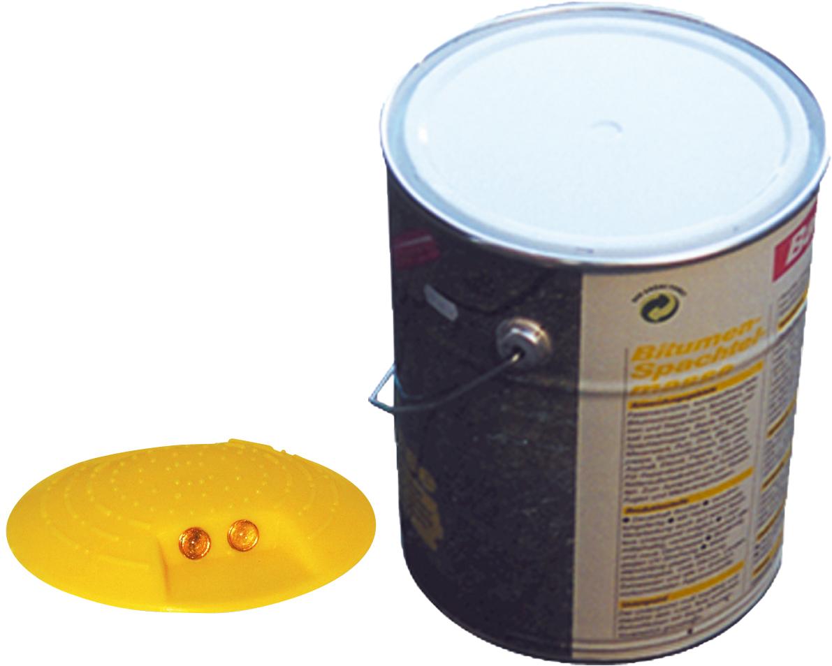 Schake Markierungsknopf Ø 120 mm - hawego Set 10 Kunststoffknöpfe gelb - Zweikomponenten Kleber 10 kg - verschiedene Ausführungen (SK-C-39110-H10) Bild-01