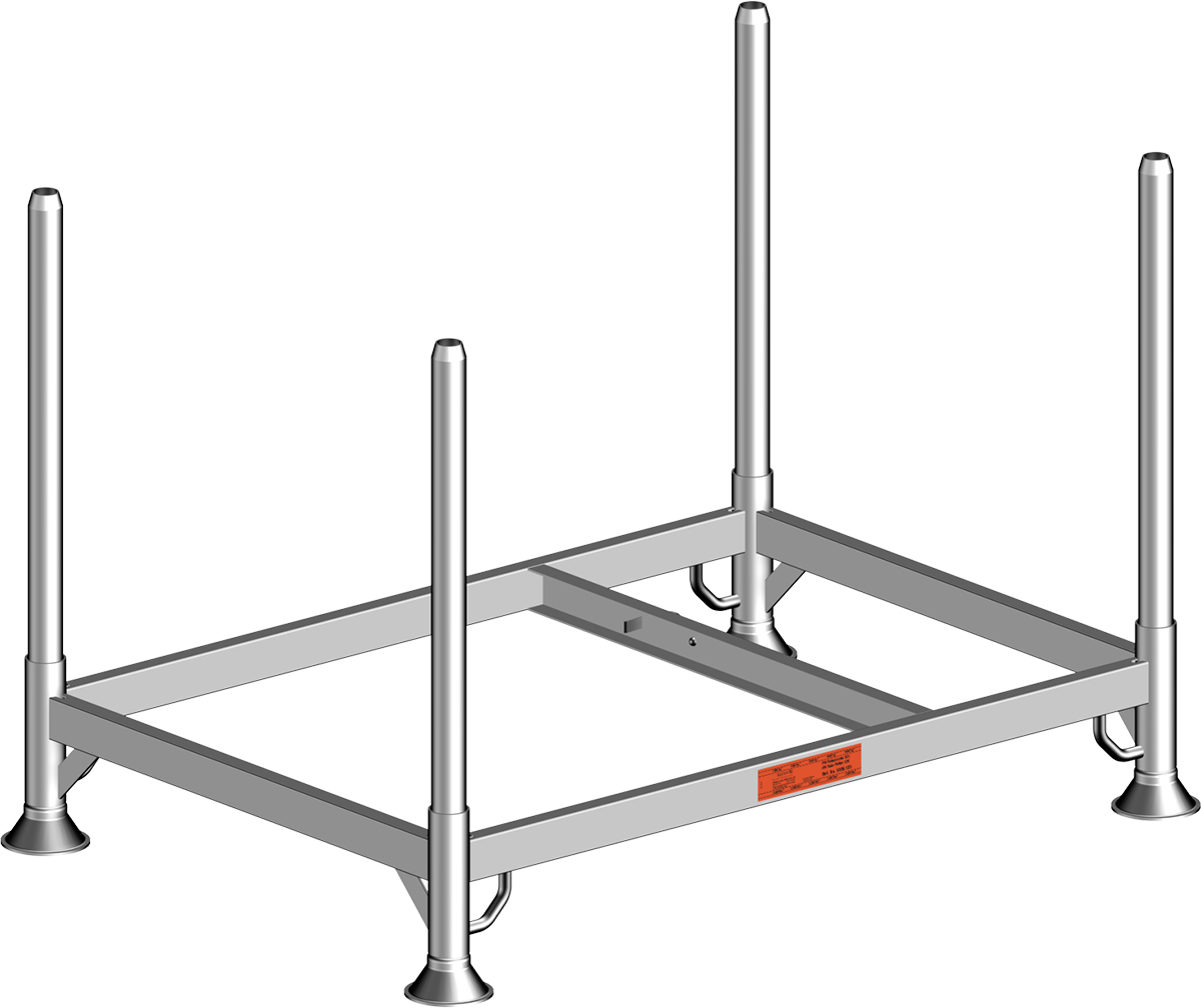 Layher Fahrgerüst Stahl-Rohrpalette 125