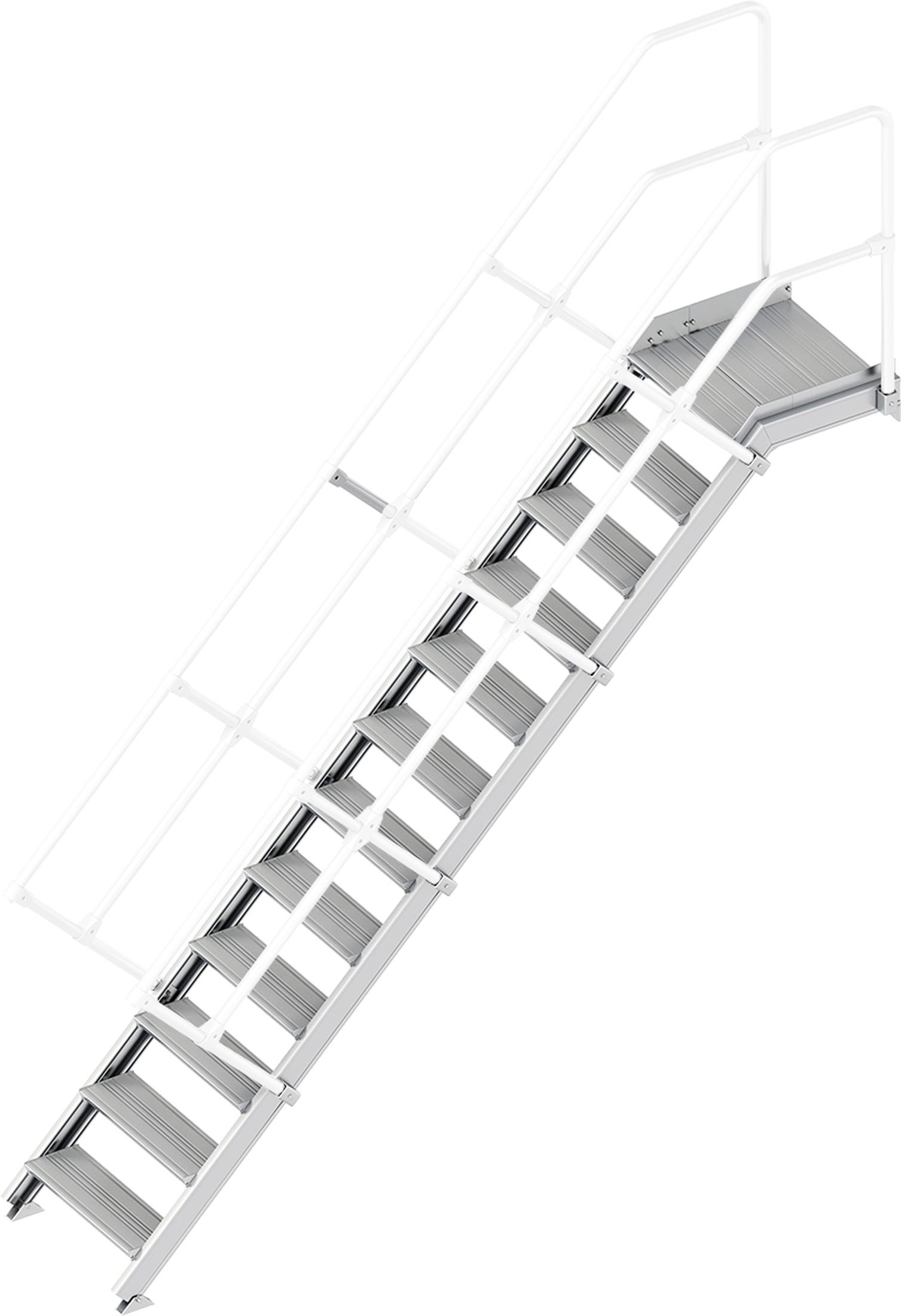 Layher Plattformtreppe 45° 12 Stufen - 600 mm breit