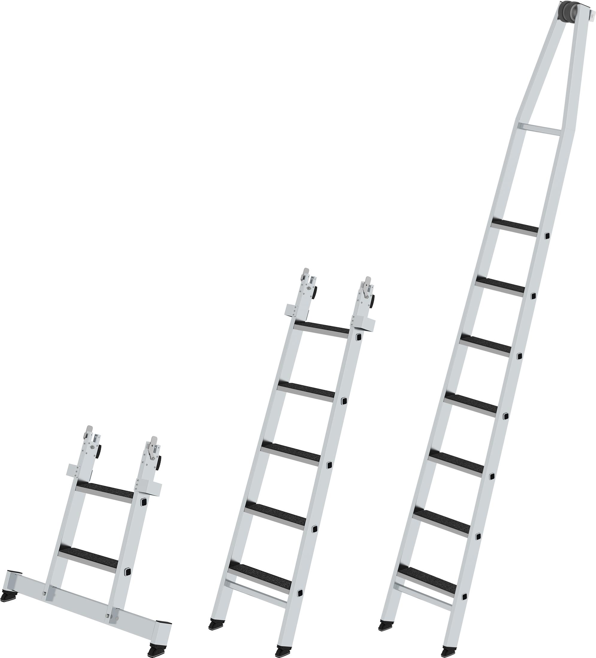 Günzburger Stufen-Glasreinigerleiter Einzelteile mit clip-step R13